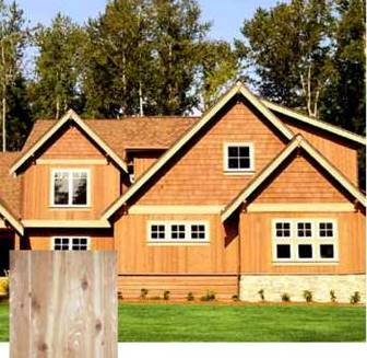 New product real wood cedar siding schutte lumber for Real wood siding