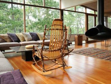 Mid-Century Modern Addition, Truro modern living room