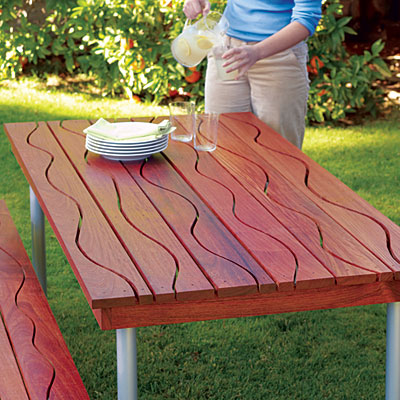 woodworking project picnic table