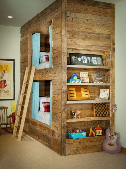 Cool wooden bunk bed loft design ideas schutte lumber - Cool loft bed designs ...