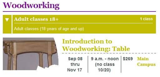 woodworking class