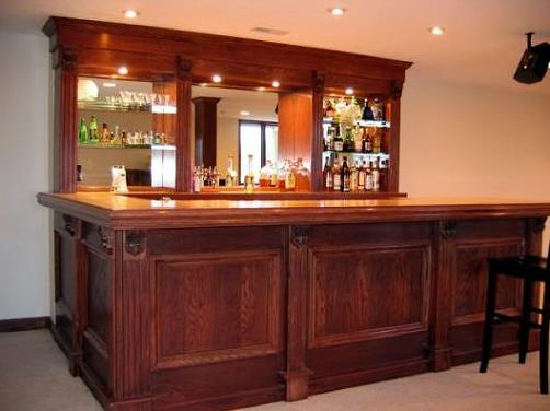 Building your home bar schutte lumber for How to build a mini bar at home