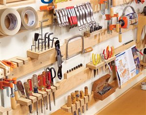 Keeping your woodshop organized for maximum efficiency - Small workshop storage ideas ...