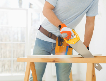 A saw horse is among the most handy tools you can have for woodworking, and building your own is surprisingly easy! ©iStockphoto.com/IPGGutenbergUKLtd